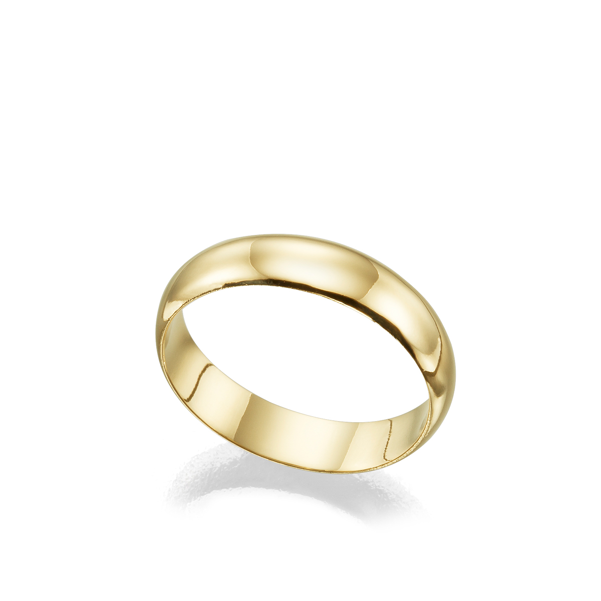 5 mm wide straight profile gold ring
