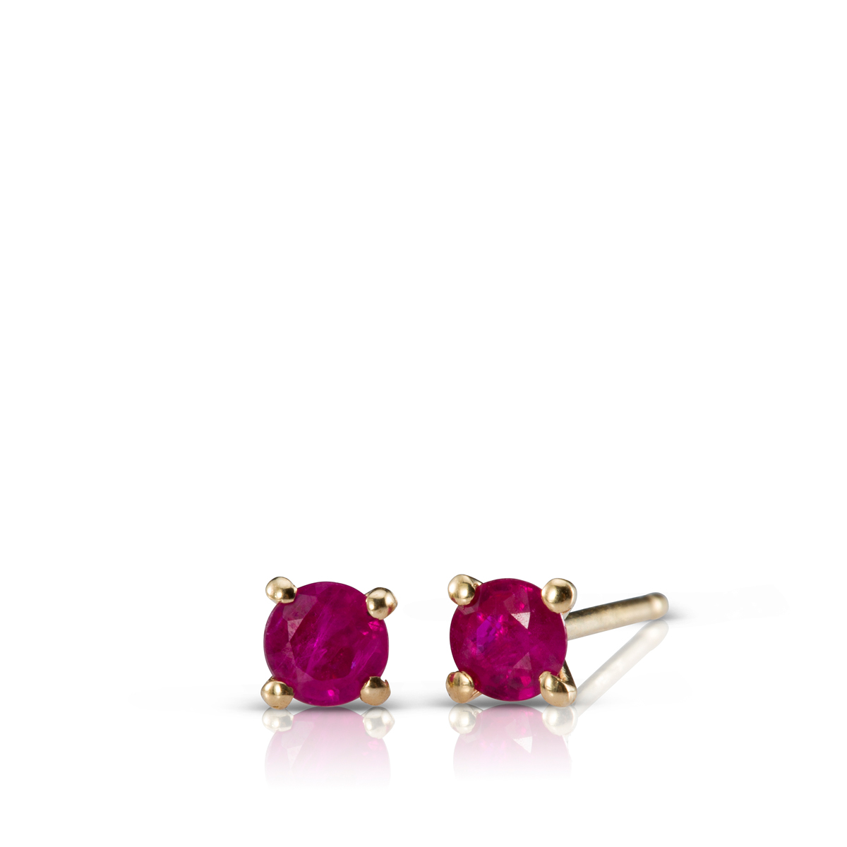 Solitaire rubies earrings