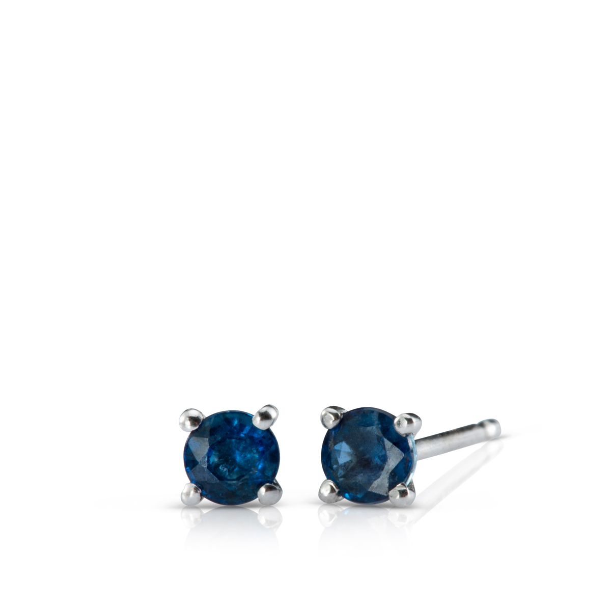 Solitaire Sapphire earrings