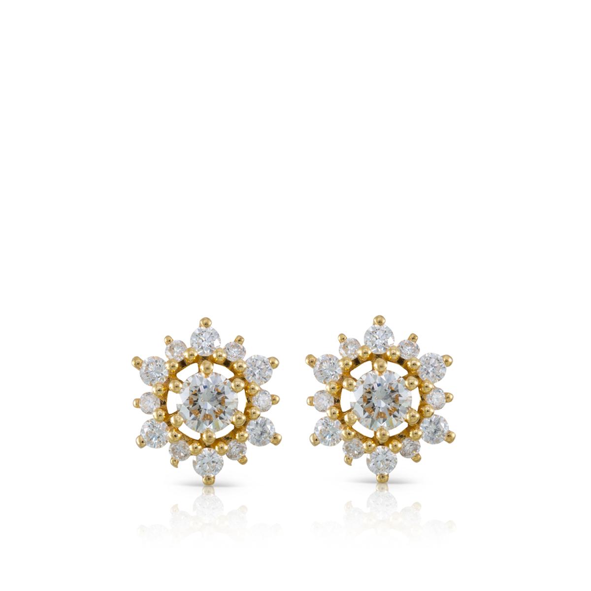 Impressive stud diamonds earrings