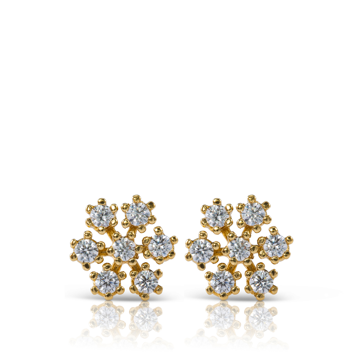 Snowflake diamonds earrings