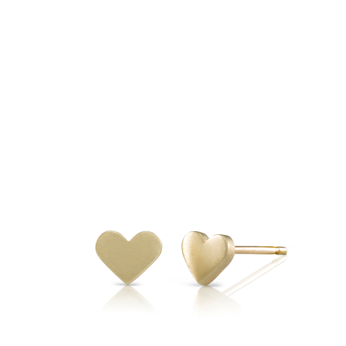 Small heart gold earrings
