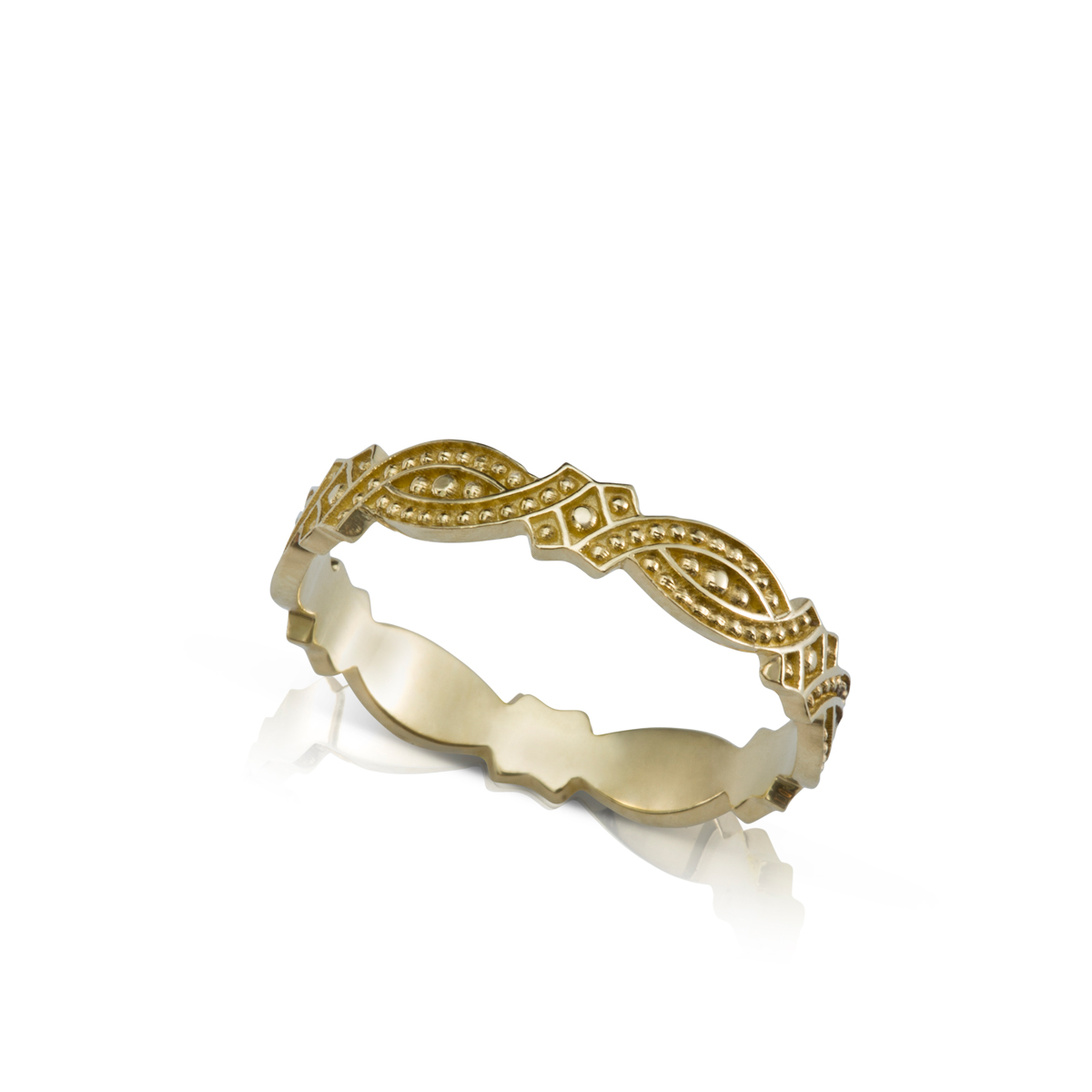 A special gold ring in an oriental style