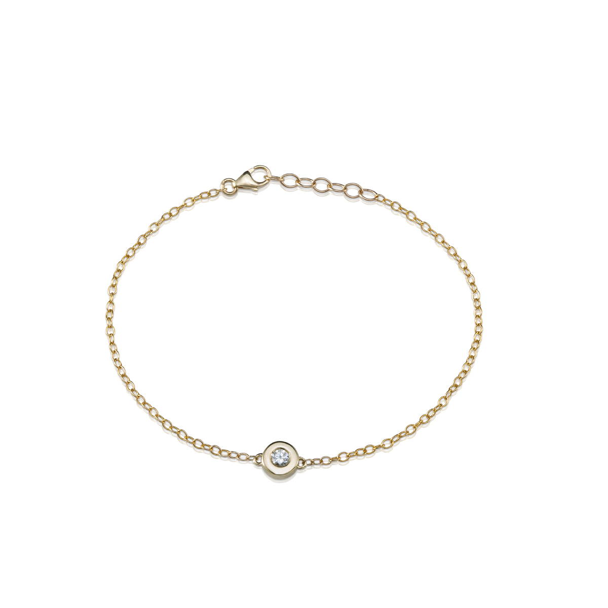 Gold bracelet set with 0.15ct diamond