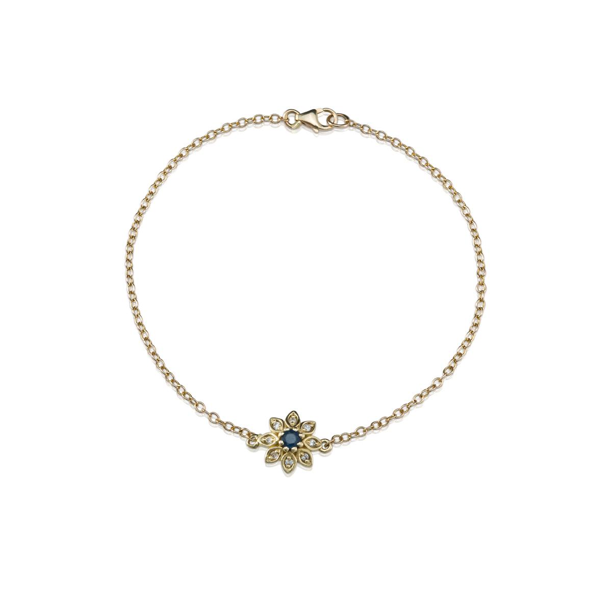 Gold Sapphire and Diamond bracelet