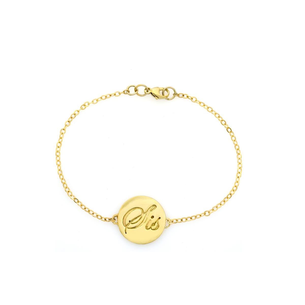 Name engraved gold bracelet