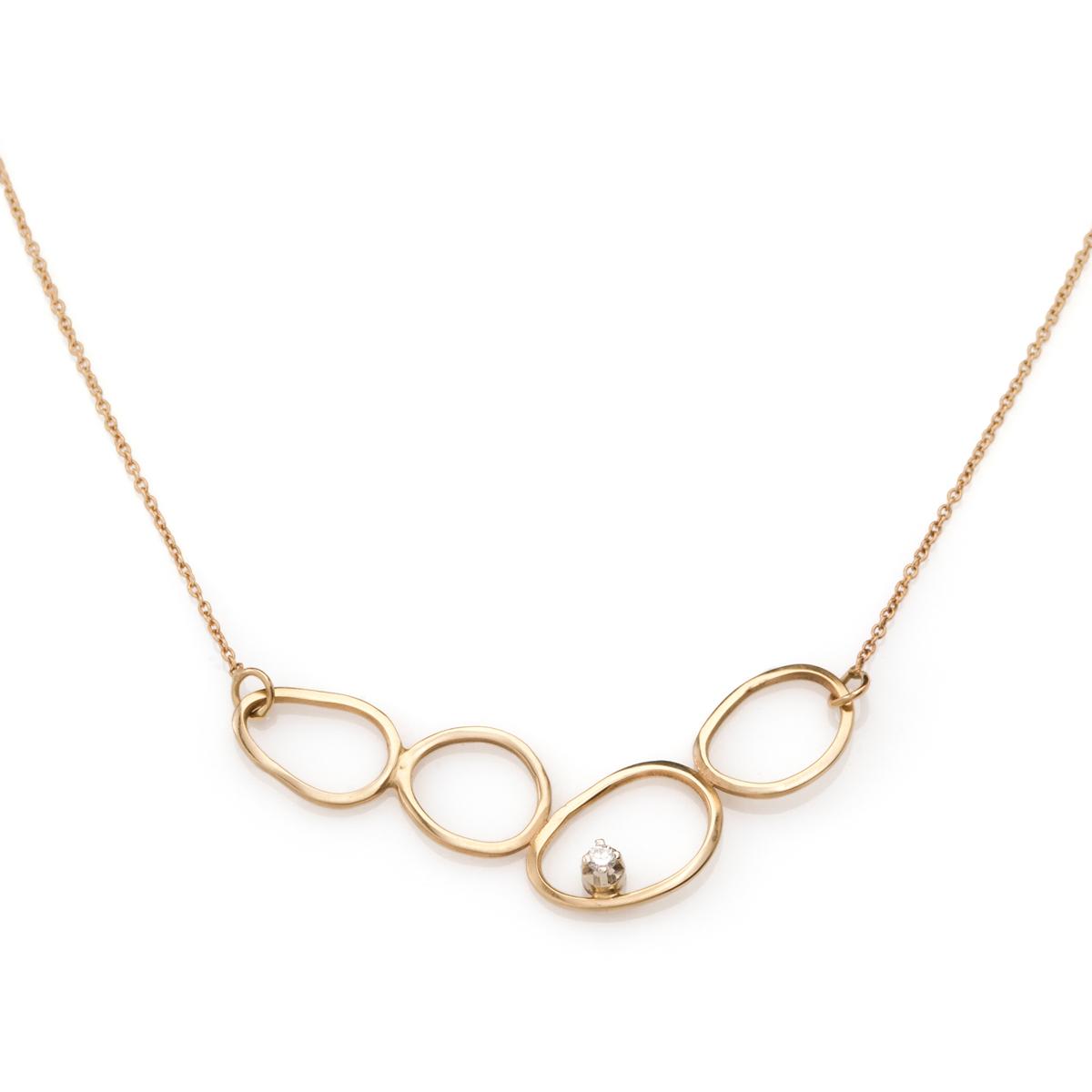 Amorphic impressive gold necklace