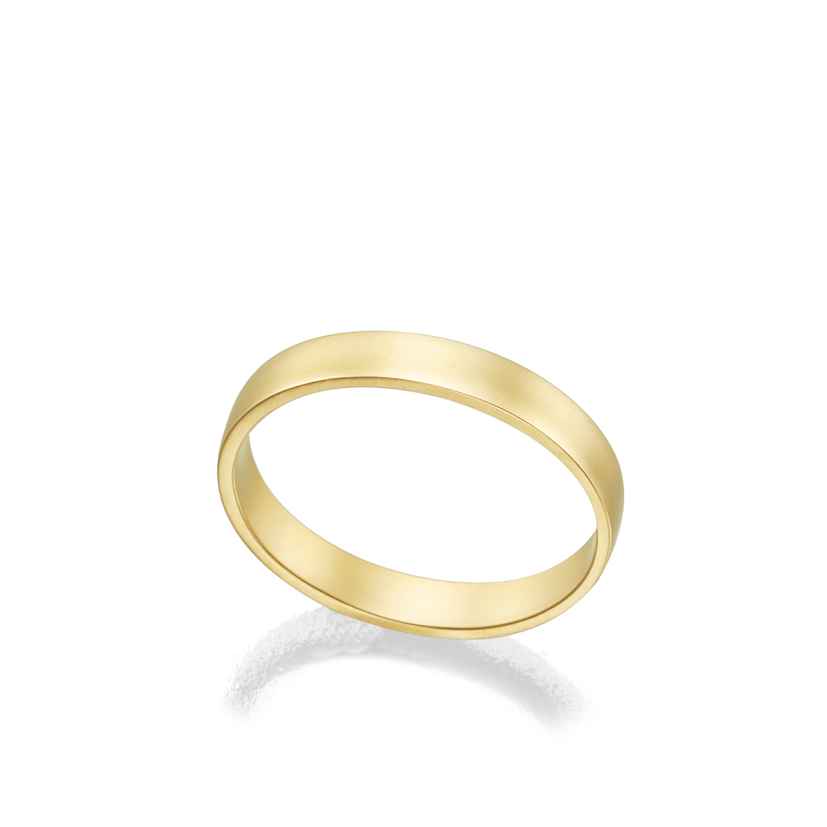 3 mm wide stright profile gold ring