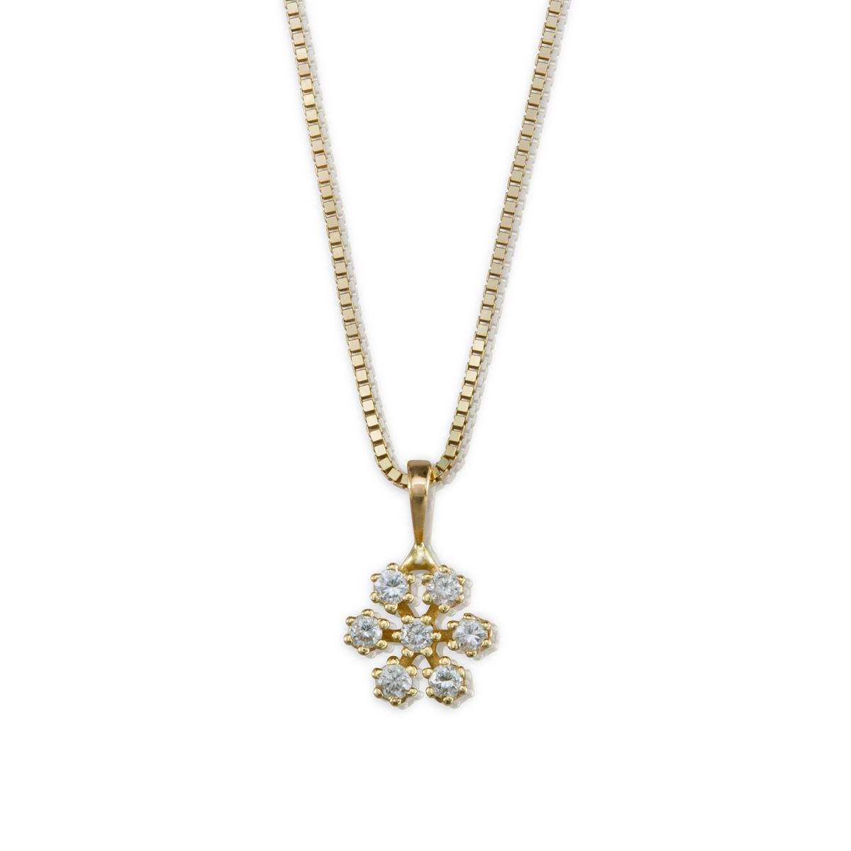 Snowflake diamonds necklace