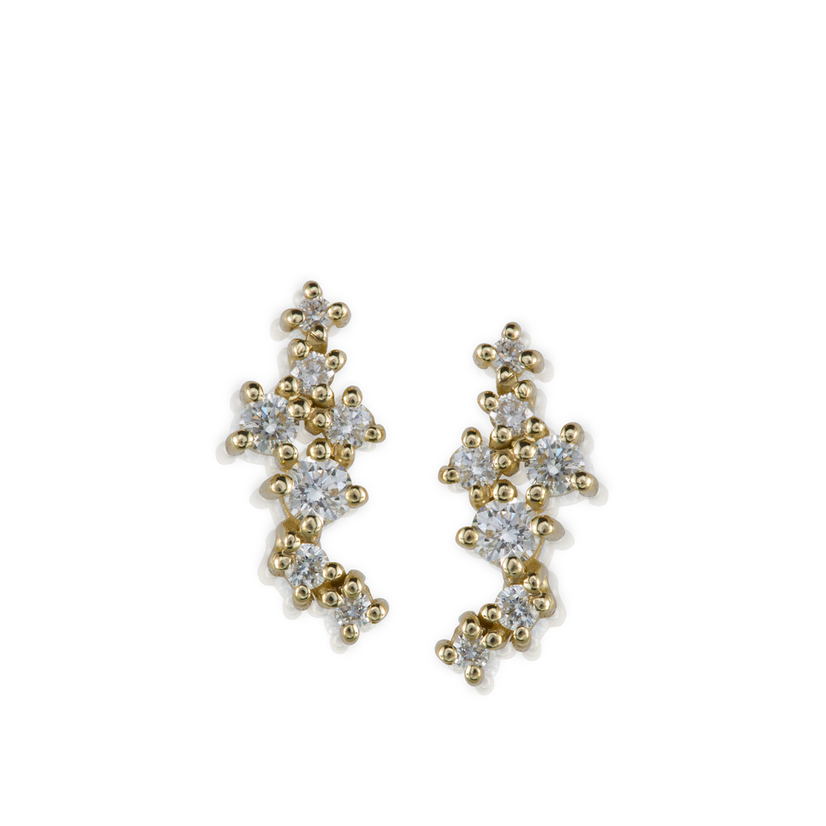 Mix diamonds stud earrings