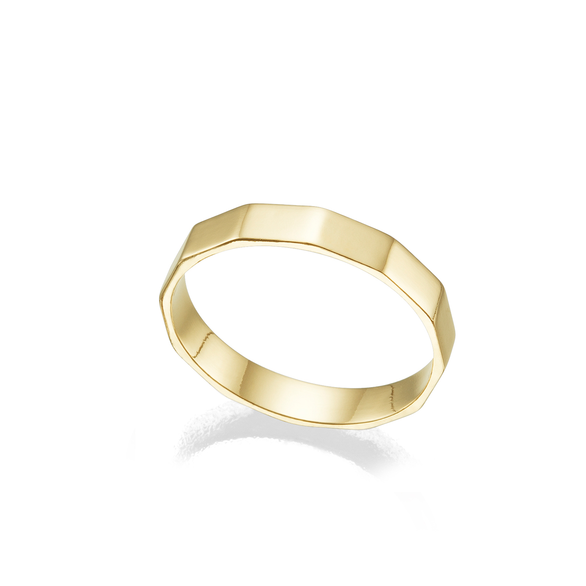 Nut shaped gold ring