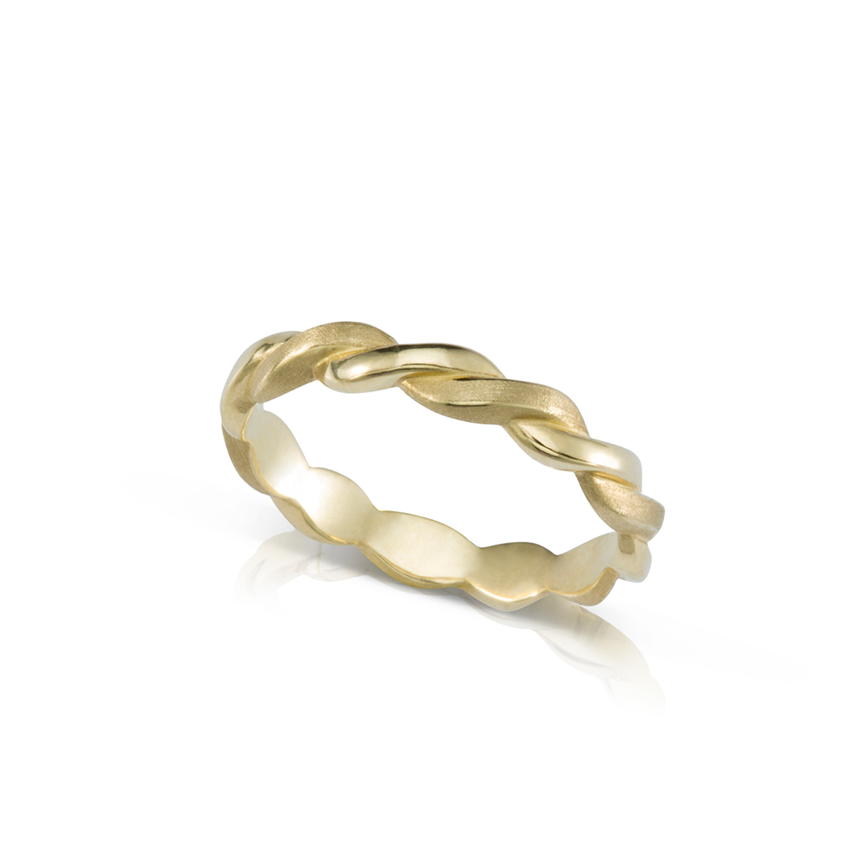 3 mm braided gold ring