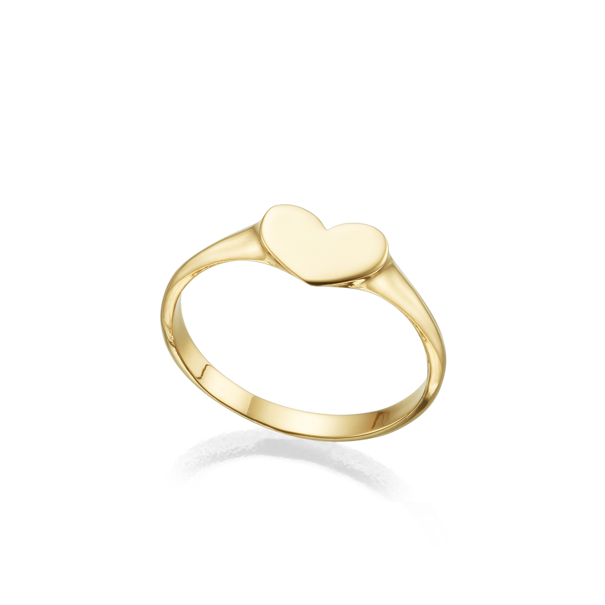 Gold Heart shaped signet Ring