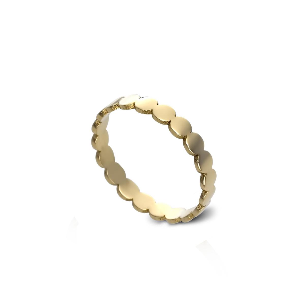 Flat circle gold ring