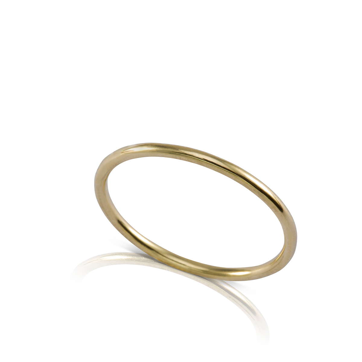 A thin round gold ring
