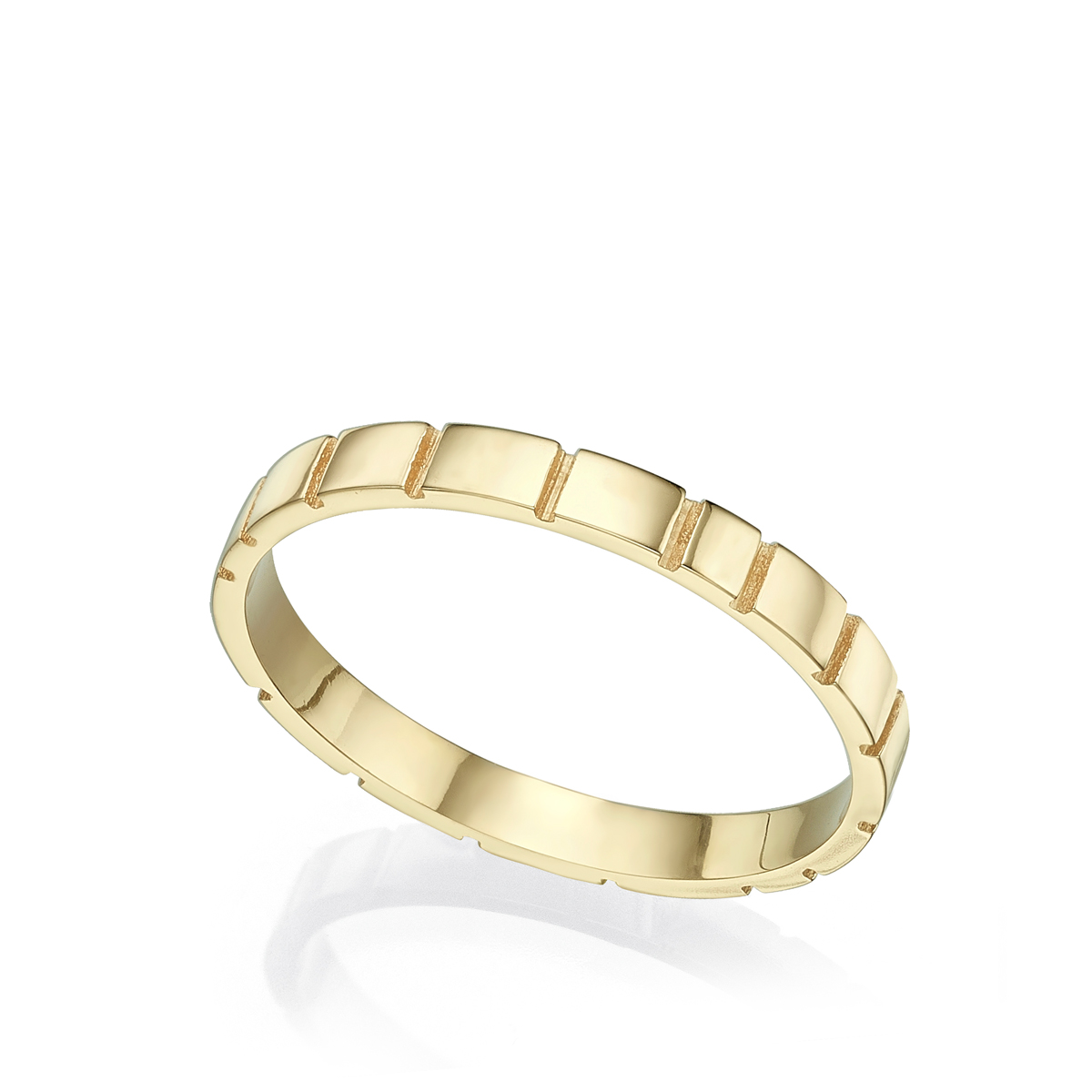 Thin grooves wedding ring