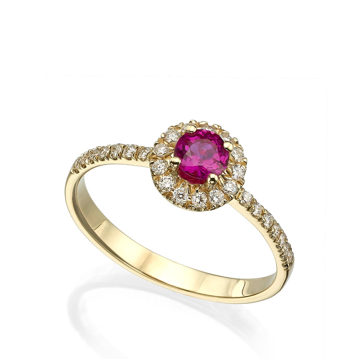 halo ruby and diamond engagement ring