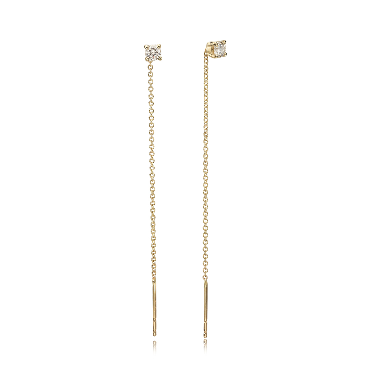 Diamond Chain Earrings – 0.20ct