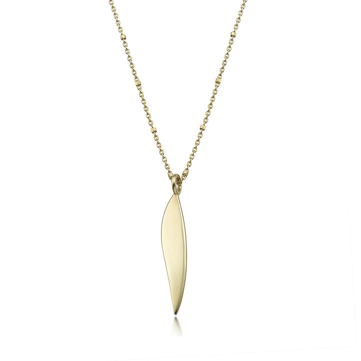 Unique solid bar gold name necklace