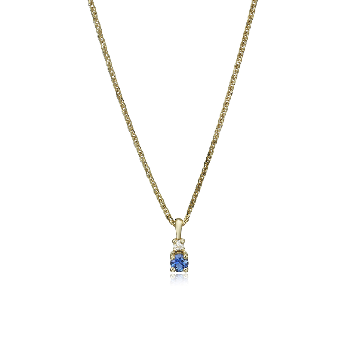 Classic Diamond And Sapphire Necklace