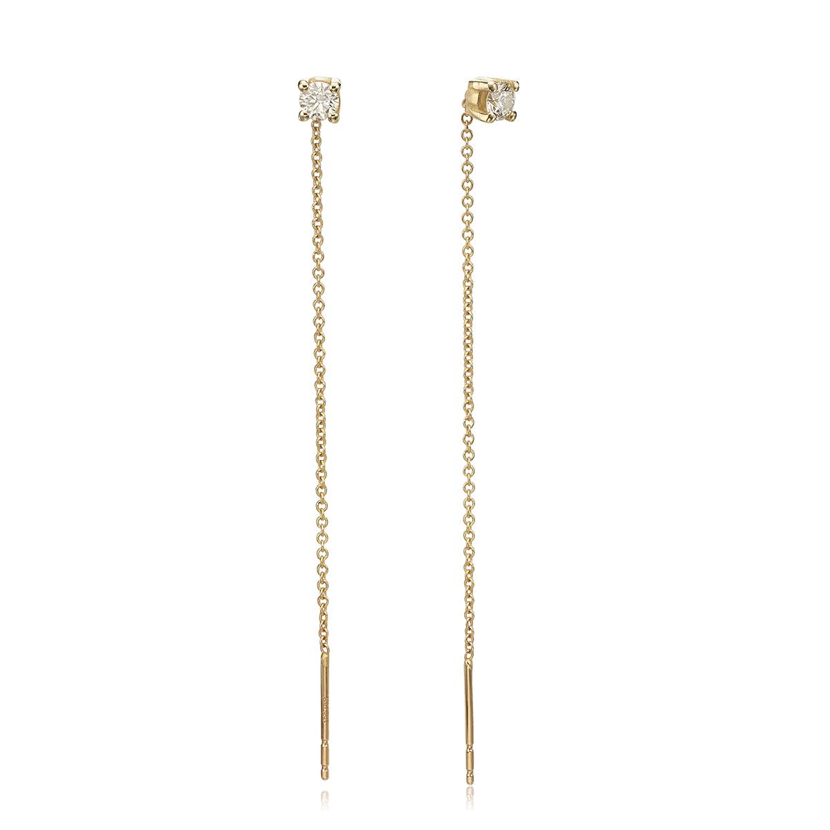 Diamond Chain Earrings – 0.30ct
