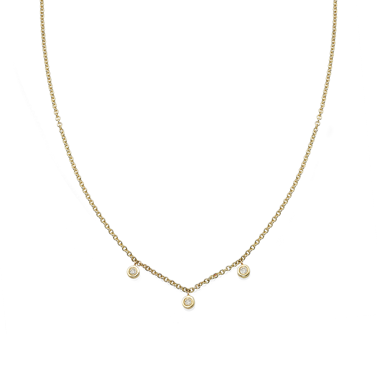 3 Diamonds Necklace
