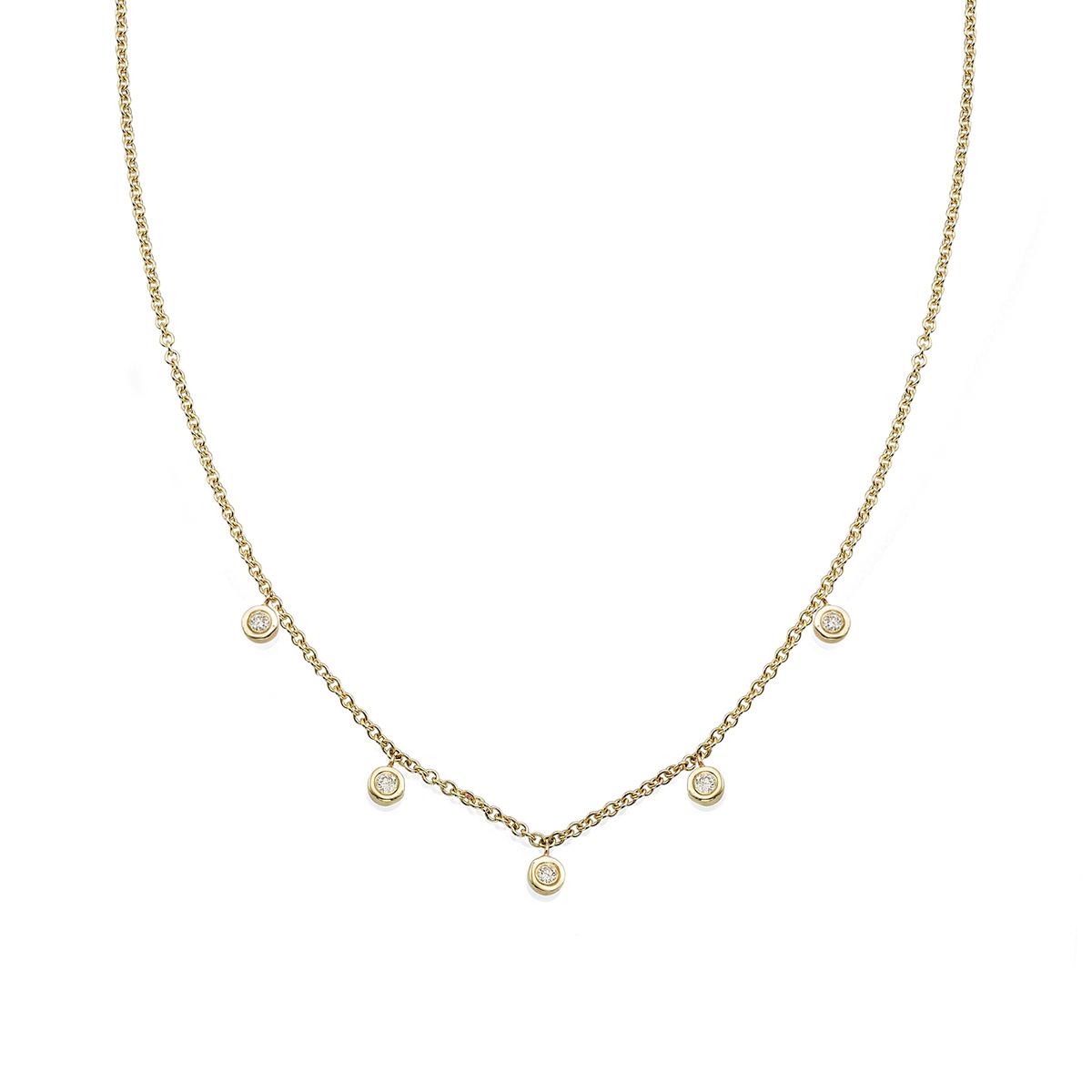 Delicate 5 Diamonds Necklace