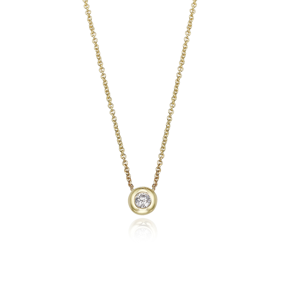 Diamond Necklace – Bezel Set 15 Point