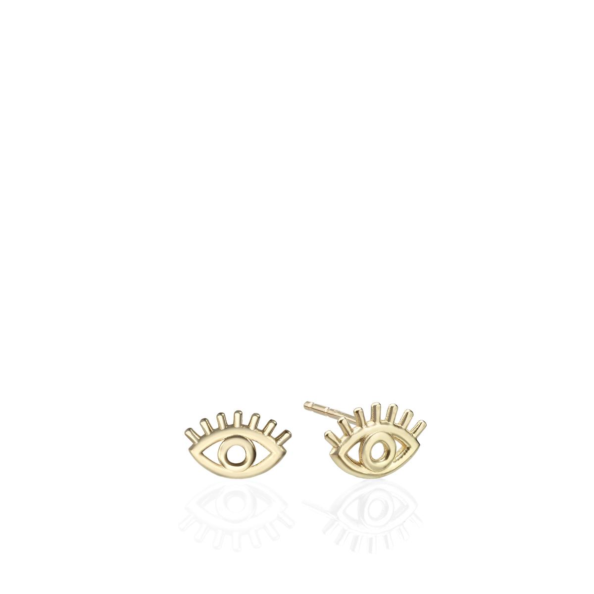 The Evil Eye Tiny Gold Studs