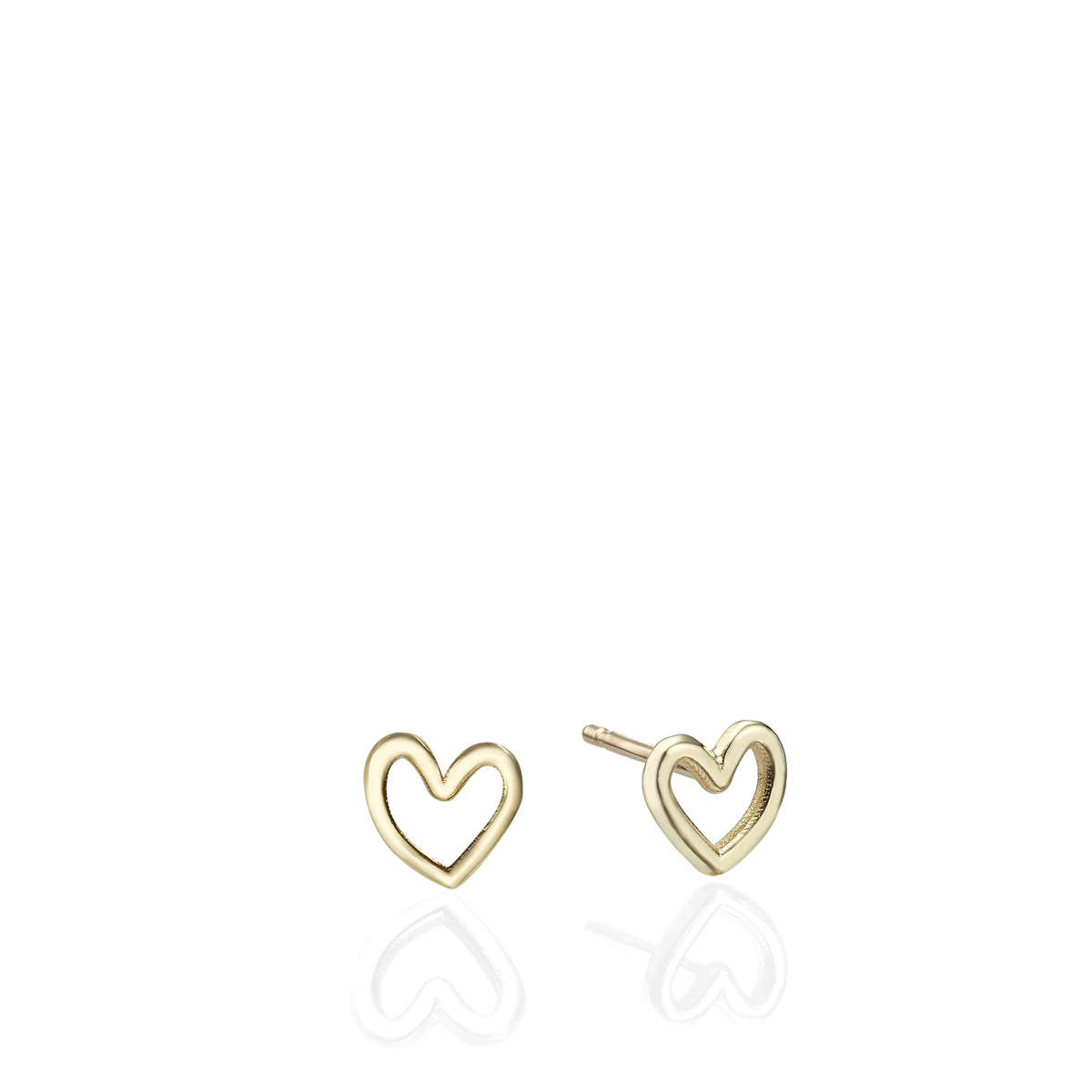 Solid Gold Small Heart Earrings