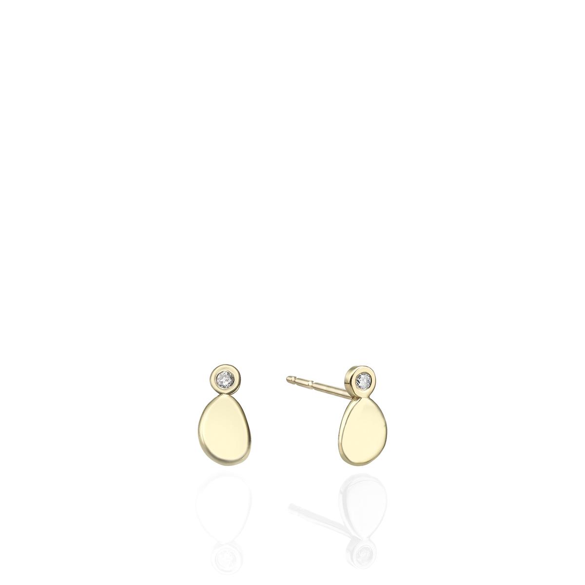 Diamond Dot Earring
