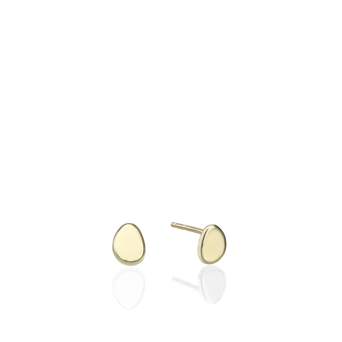 Gold Amorphous Dot Earrings