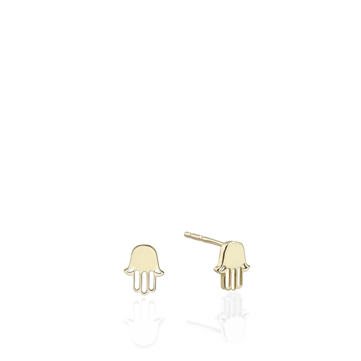 Small Gold Hamsa Earring