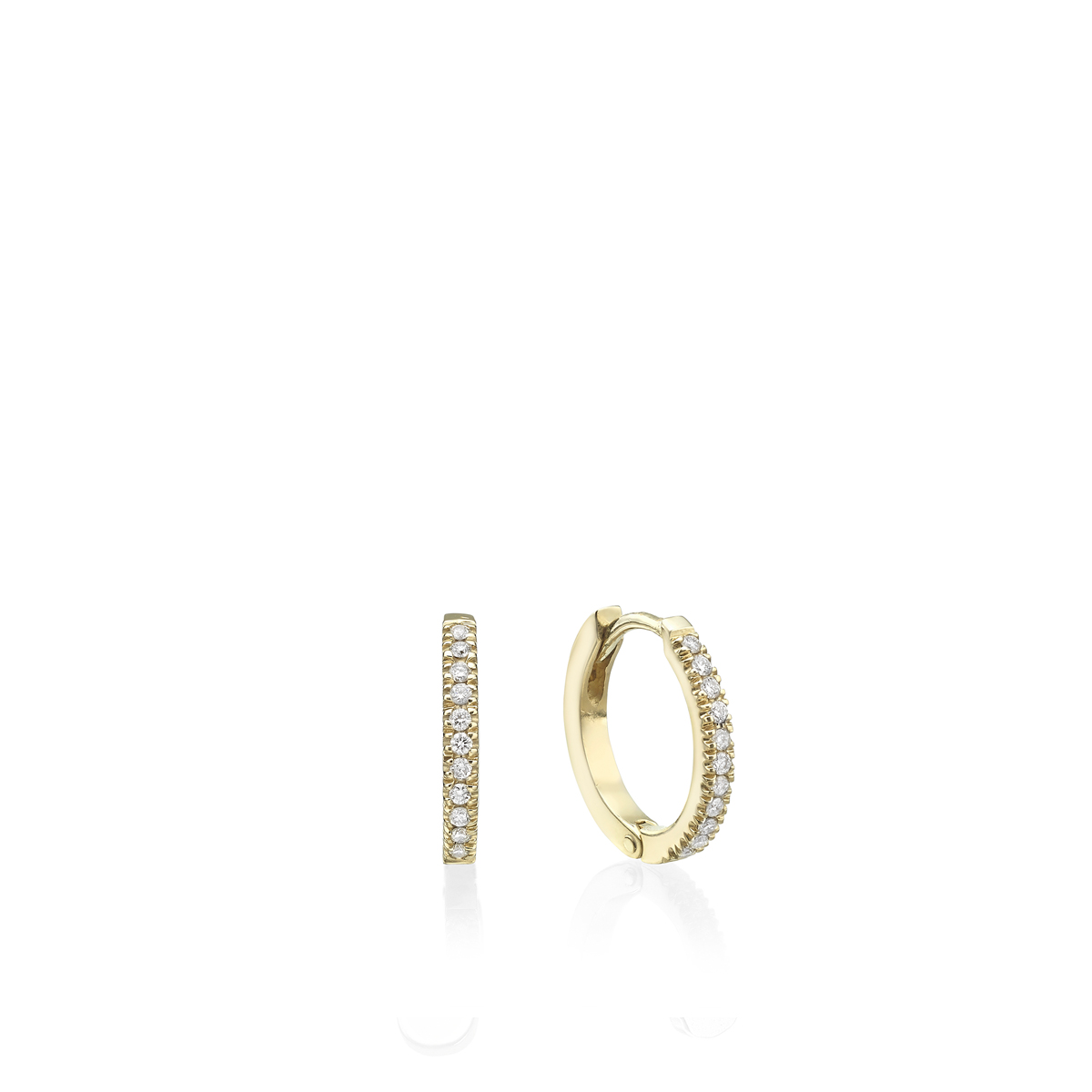 Gold Diamond Hoops