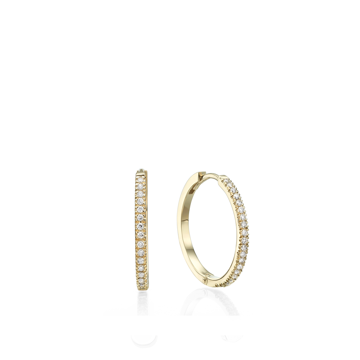 20mm Gold Diamond Hoops
