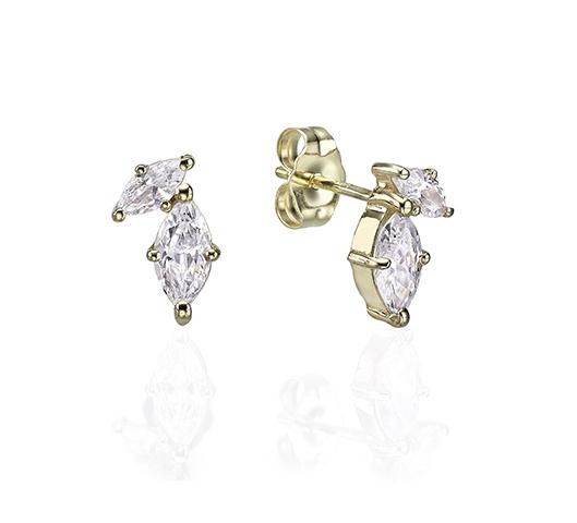 1 Carat marquise Diamond studs earrings
